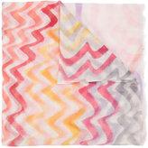 Missoni zig zag pattern scarf - women - Cotton - One Size