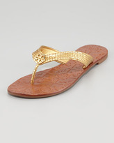 Tory Burch Thora2 Metallic Thong Sandal