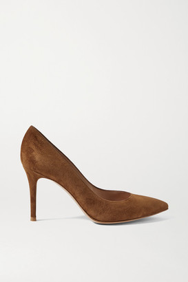 Gianvito Rossi 85 Suede Pumps - Brown