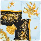 Versace baroque sea print scarf