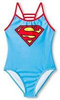 Supergirl Girls' 1-Piece Swimsuit - Blue