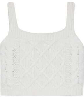 Each X Other Cropped Cable-knit Merino Wool Top