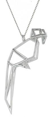 Origami Jewellery Frame Parrot Necklace Sterling Silver