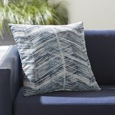 """Crate & Barrel Painted Chevrons 20"""" Sq. Outdoor Pillow"""