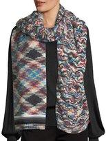 Missoni Mixed-Pattern Knit Scarf