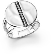 Ippolita Sterling Silver Senso Split Band Disc Ring with Diamonds
