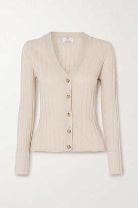 Allude Ribbed Wool Cardigan - Cream