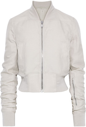 Rick Owens Ribbed Cotton And Silk-blend Bomber Jacket