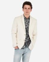 Express Slim Khaki Cotton-Blend Blazer
