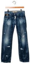 John Galliano Boys' Distressed Straight-Leg Jeans