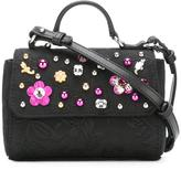 Dolce & Gabbana embellished shoulder bag - kids - Calf Leather/Viscose/Brass/glass - One Size