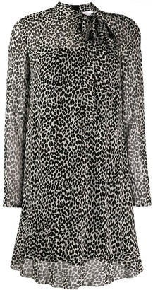 RED Valentino leopard print shift dress