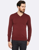 Oxford Jax V-Neck Contrast Tipping Knit