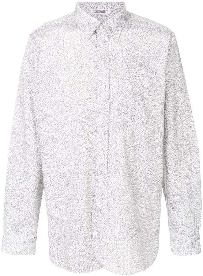 Engineered Garments abstract branches pattern shirt