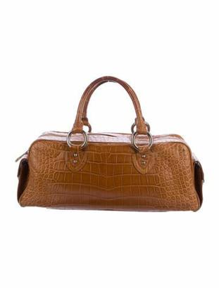 Marc Jacobs Alligator Handle Bag silver