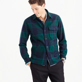 J.Crew Wallace & Barnes shirt-jacket in wool nightwatchmen plaid