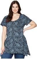 Extra Fresh by Fresh Produce Plus Size Ocean Tide Vintage Drape Tee Women's T Shirt