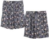 Godsen Men's 2 Pack Knit Lounge/Sleep Shorts Sport Boardshorts (L, )