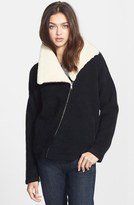 Theory 'Hex' Genuine Shearling Collar Jacket