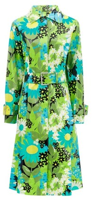0 Moncler Genius Richard Quinn - Charlie Floral Coated Cotton-canvas Raincoat - Green Multi