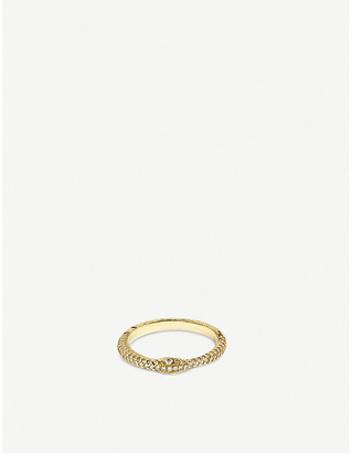 Gucci Ouroboros 18ct yellow-gold and diamond ring