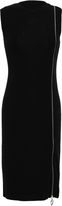 Love Moschino Zip-detailed Wool-blend Mini Dress