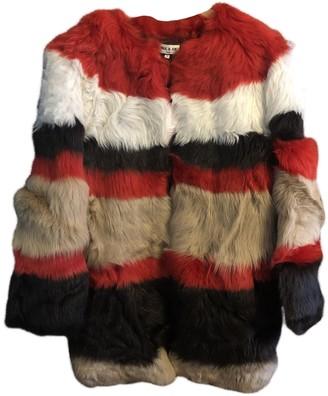 Paul & Joe Multicolour Fur Coat for Women