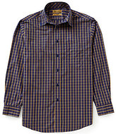 Roundtree & Yorke Gold Label Non-Iron Long-Sleeve Multi Check Sportshirt