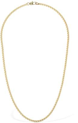 Laura Lombardi 14kt Gold Plated Box Chain Necklace