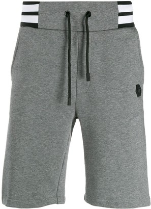 Philipp Plein Striped Waistband Bermuda Shorts