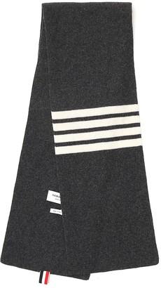 Thom Browne 4-Bar Knitted Scarf