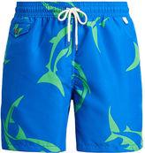 Polo Ralph Lauren 53⁄4-Inch Shark-Print Swim Trunk