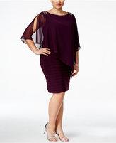 Xscape Evenings Plus Size Embellished Chiffon Overlay Dress
