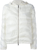 Moncler curved panel hooded jacket