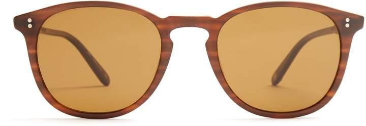 Garrett Leight Kinney round-frame sunglasses