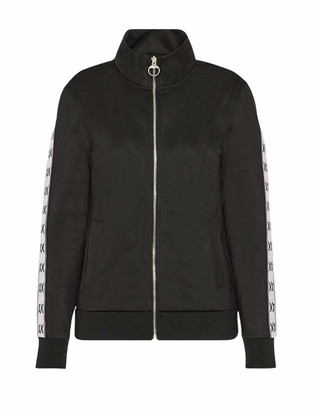 Armani Exchange A|X Women's Silky Textured Zip Up Sweater with Logo