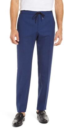 HUGO BOSS Banks Slim Fit Pinstripe Wool Pants