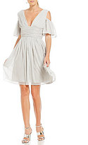 French Connection Constance Drape Deep V-Neck Dress