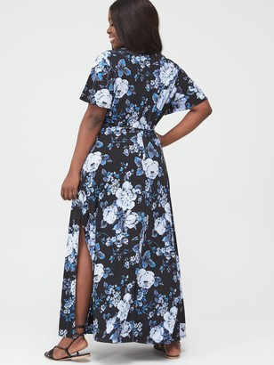 V By Very Curve Maxi Dress - Print