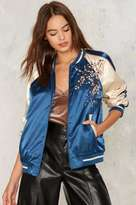 Factory Wild Girl Embroidered Bomber Jacket