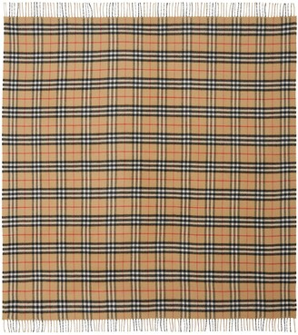 Burberry Check Extra Fine Merino Wool Blanket