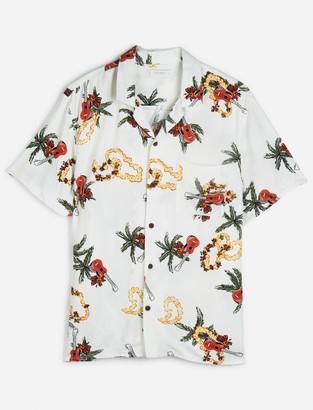 Lucky Brand Short Sleeve Club Collar