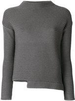 Eleventy asymmetric high round neck sweater