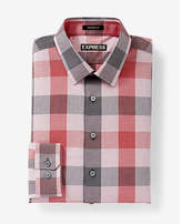 Express modern fit optical check dress shirt