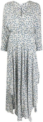 Poupette St Barth Floral Wrap Dress