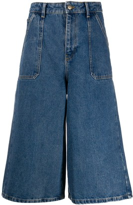 BA&SH Flared Denim Culottes