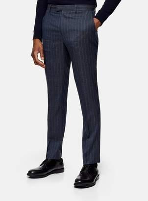TopmanTopman Navy Pinstripe Slim Fit Suit Trousers