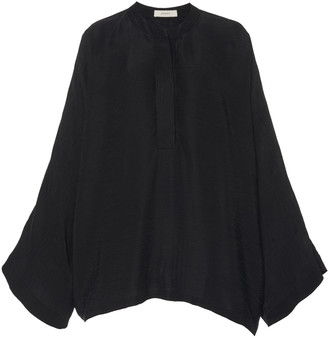 Áeron Caroline Wide Sleeve Black Blouse