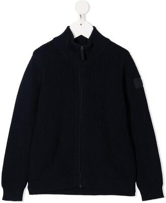 Il Gufo Chunky-Knit Zip-Up Cardigan