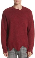 Ovadia & Sons Men's Destroyed Crewneck Sweater
